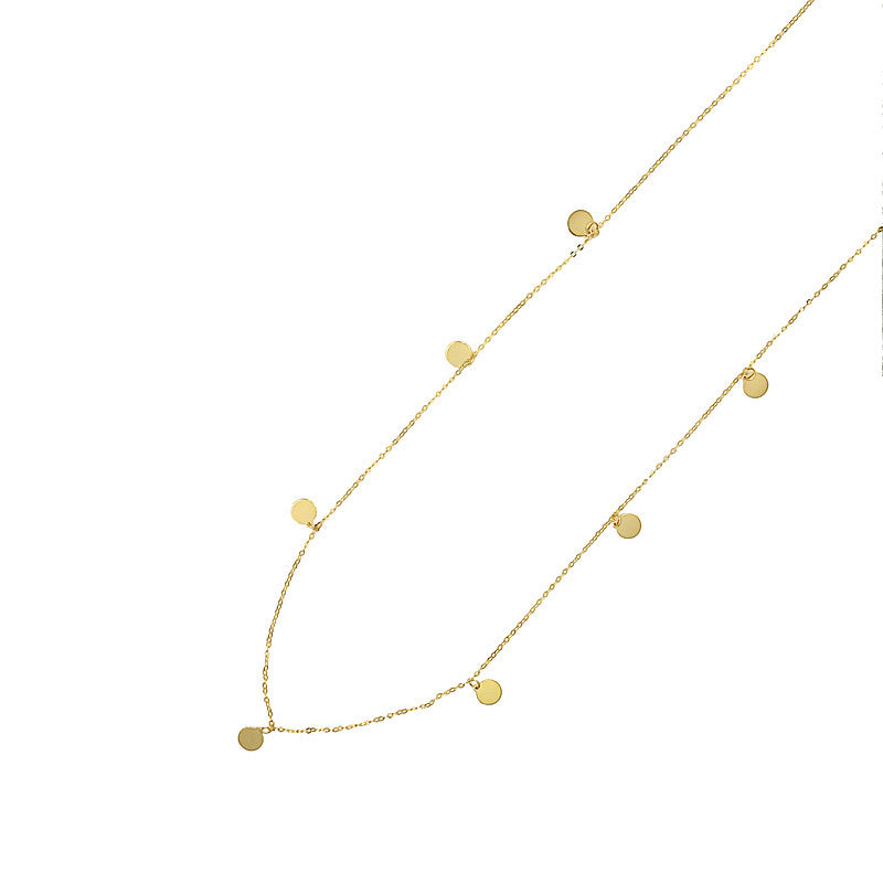 "14 Karat Yellow Gold ""Small Plate"" Necklace"