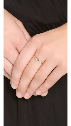 Love Knot Ring On The Finger