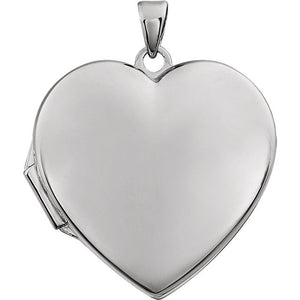 14 Karat White Gold Heart Shaped Locket