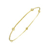 14 Karat Yellow Gold Slip On Diamond Bangle Bracelet
