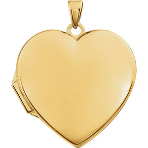 14 Karat Yellow Gold Heart Shaped Locket