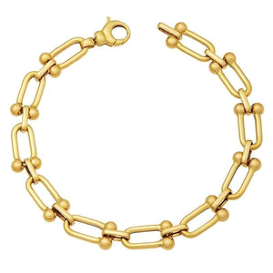 14 Karat U Shaped Link Fashion Bracelet
