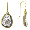 14 KY Gold Rutilated Quartz and Diamond Drop Earrings