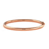 18 Karat Rose Gold 4mm Round Tube Bangle