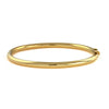 18 Karat Yellow Gold 4mm Round Tube Bangle