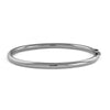 18 Karat White Gold 4mm Round Tube Bangle