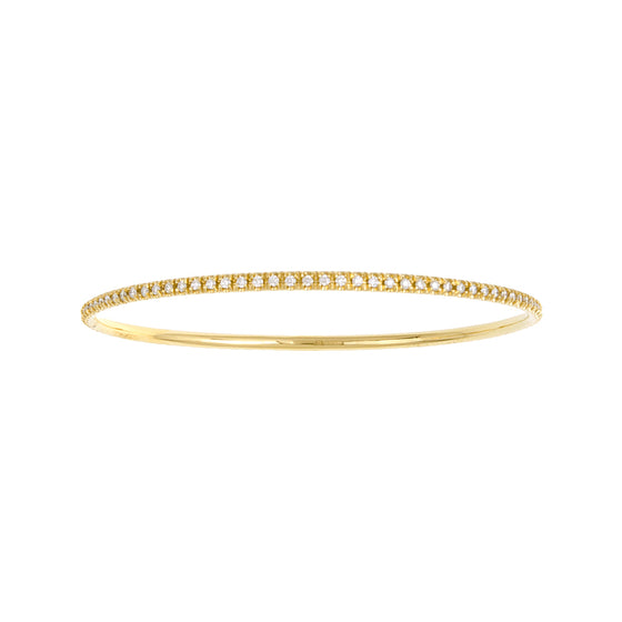 18 Karat Yellow Gold Diamond Bangle