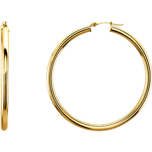 14 karat yellow gold 47mm hoop earrings