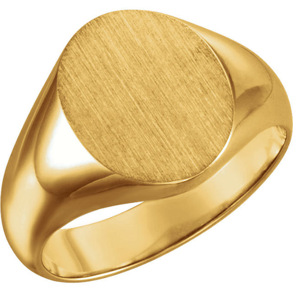 Mens Signet Ring Yellow Gold