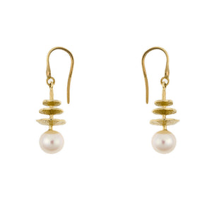 14 Karat Yellow Gold Freshwater Pearl Drop/Dangle Earrings