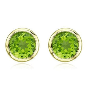 18 karat yellow gold peridot earrings