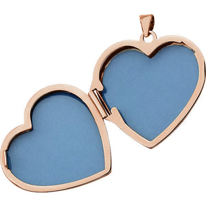 Inside View of Rose Gold Heart Shaped Locket