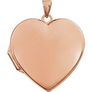 Rose Gold Heart Shaped Locket