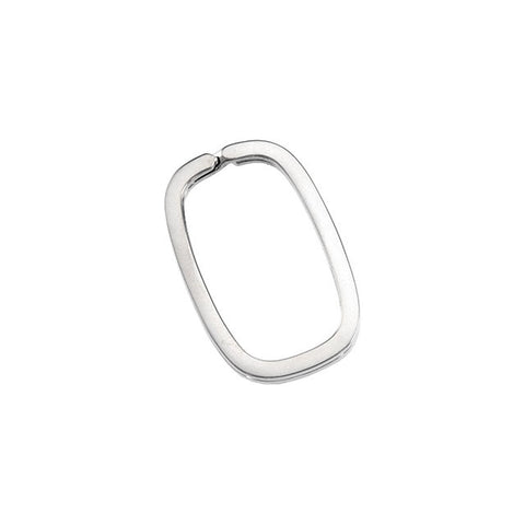 Sterling Silver Rectangle Split Key Ring