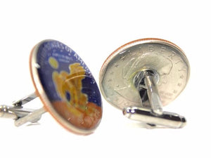 Enameled U.S. $1 Dollar Coin Cufflinks