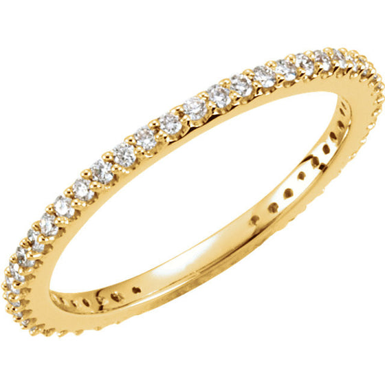 14 Karat Yellow Gold Stackable Diamond Band