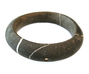 African Stone Diamond Bangle Bracelet