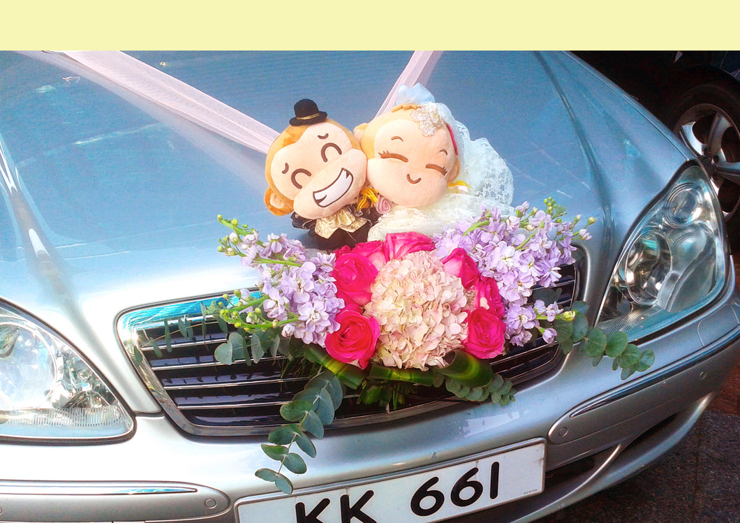 WD611  結婚花車鮮花佈置