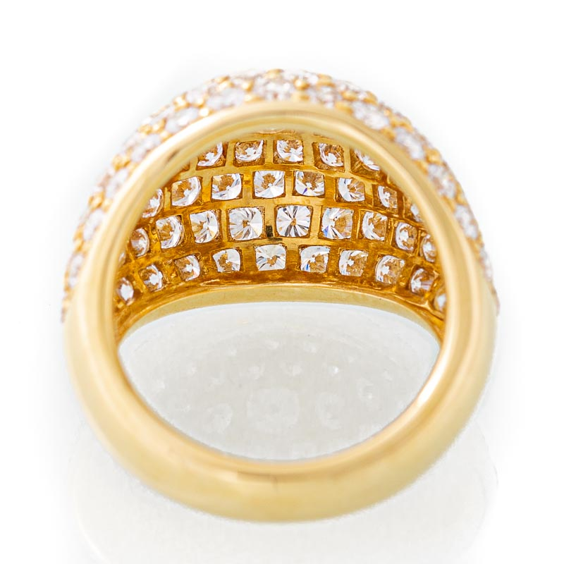 Infinite diamond dome ring in 18k gold.