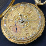 1860s M.I. Tobias Liverpool 18K Gold Key Wind Pocket Watch, Amazing Mint Condition Olde Towne Jewelers Santa Rosa CA