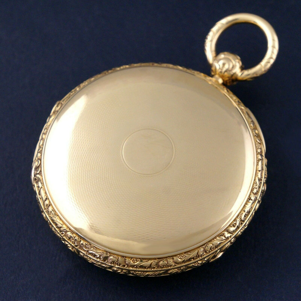 rare 1860s M.I. Tobias Liverpool 18K Gold Key Wind Pocket Watch, Amazing Mint Condition Olde Towne Jewelers Santa Rosa CA