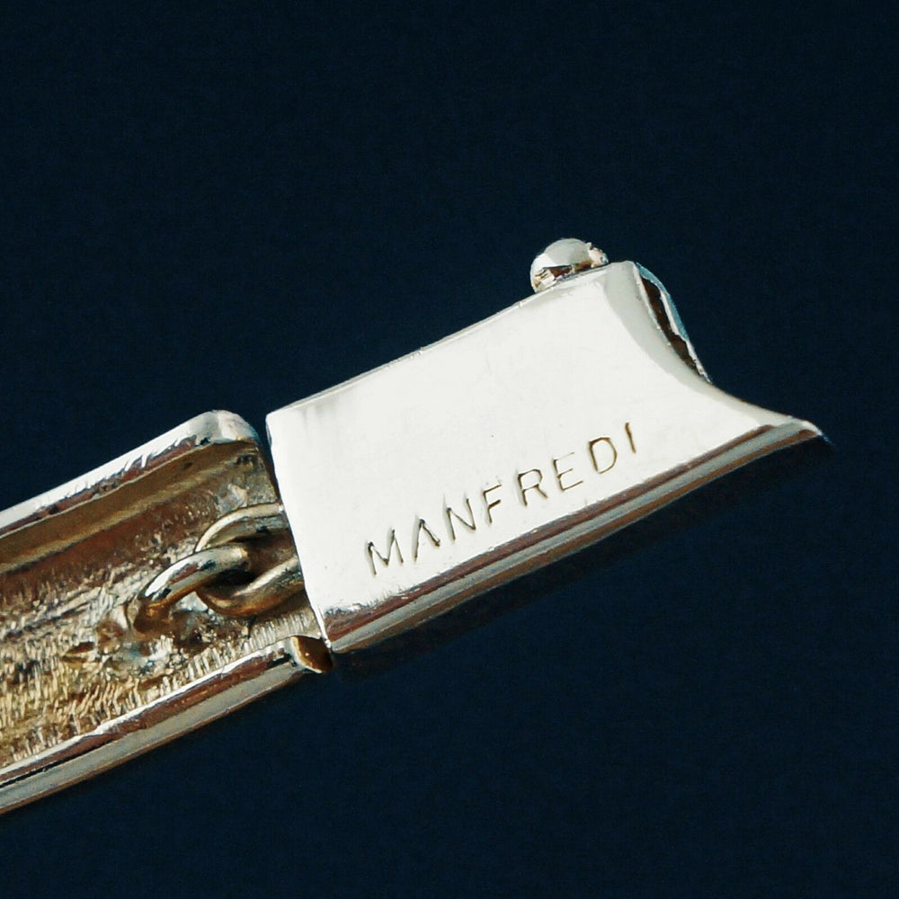 Manfredi Solid 18K Yellow & Rose Gold, Diamond, Estate Bracelet, 29gram