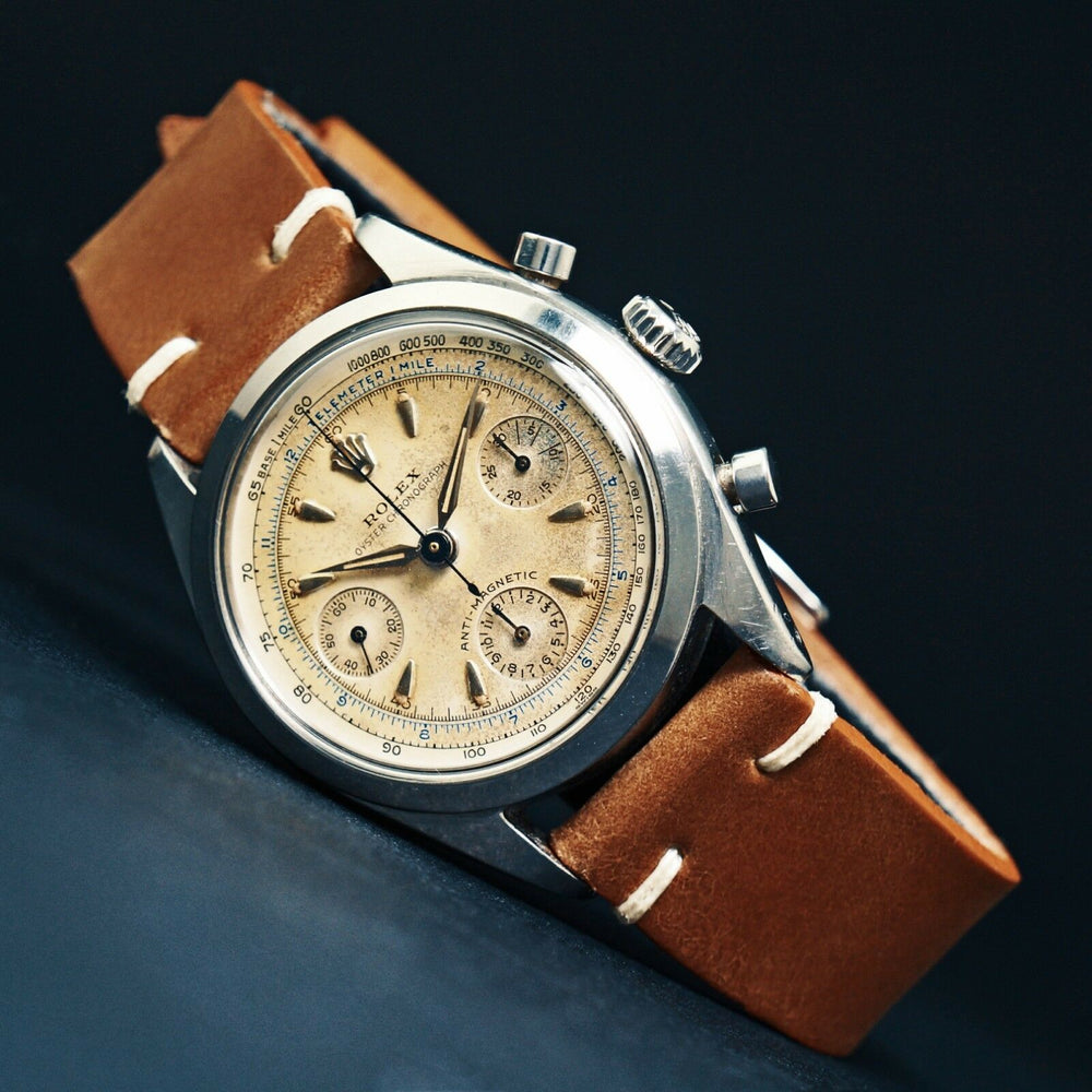 1959 Rolex 6234 Anti-Magnetic Chronograph Stainless Steel, Unpolished Original