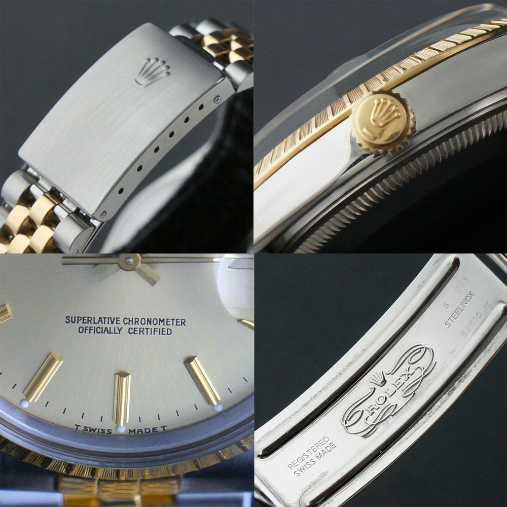 1987 Rolex Date Two Tone Gold & Stainless Steel 34mm Watch Jubilee Bracelet Olde Towne Jewelers Santa Rosa CA