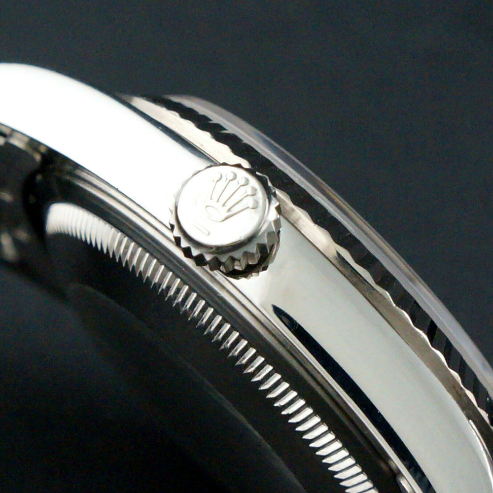 2002 Rolex 16234 Datejust 36mm Stainless Steel 18K White Gold Bezel No Holes Watch Olde Towne Jewelers Santa Rosa CA 5