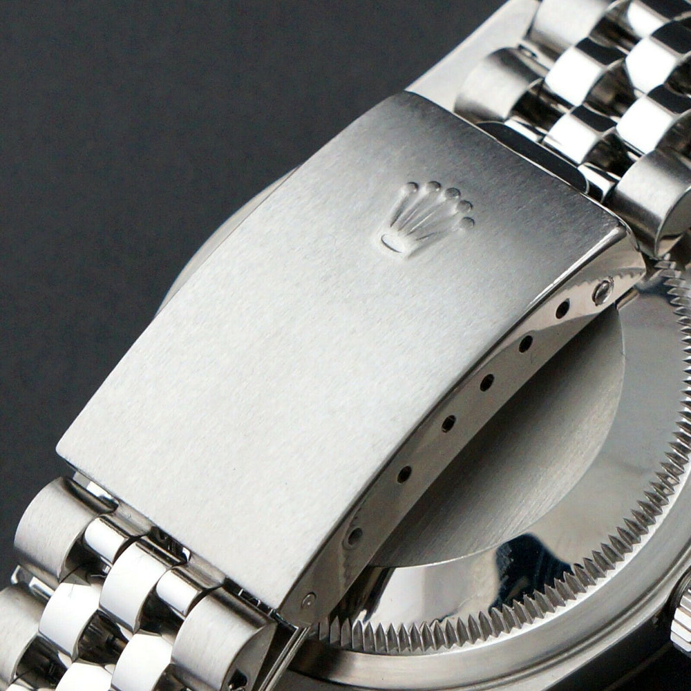 2002 Rolex 16234 Datejust 36mm Stainless Steel 18K White Gold Bezel No Holes Watch Olde Towne Jewelers Santa Rosa CA 6