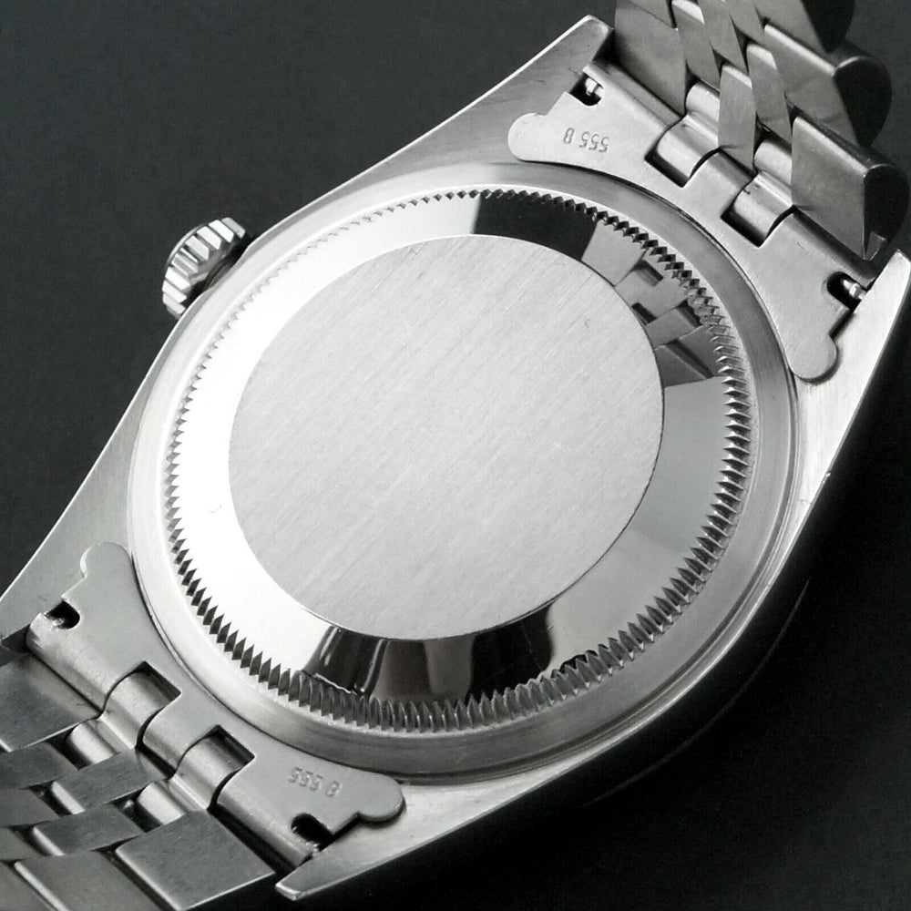 2002 Rolex 16234 Datejust 36mm Stainless Steel 18K White Gold Bezel No Holes Watch Olde Towne Jewelers Santa Rosa CA 4
