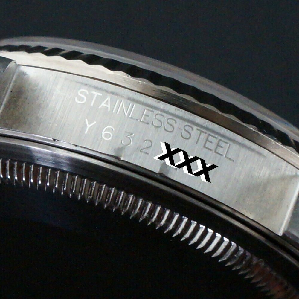 2002 Rolex 16234 Datejust 36mm Stainless Steel 18K White Gold Bezel No Holes Watch Olde Towne Jewelers Santa Rosa CA 9