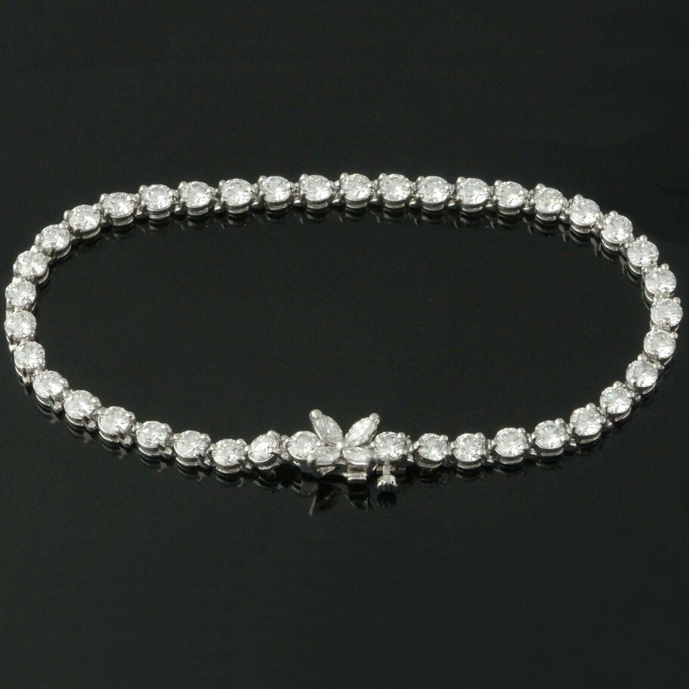 Tiffany & Co. Platinum Victoria Collection, 6.33 CTW Diamond Line Tennis Bracelet