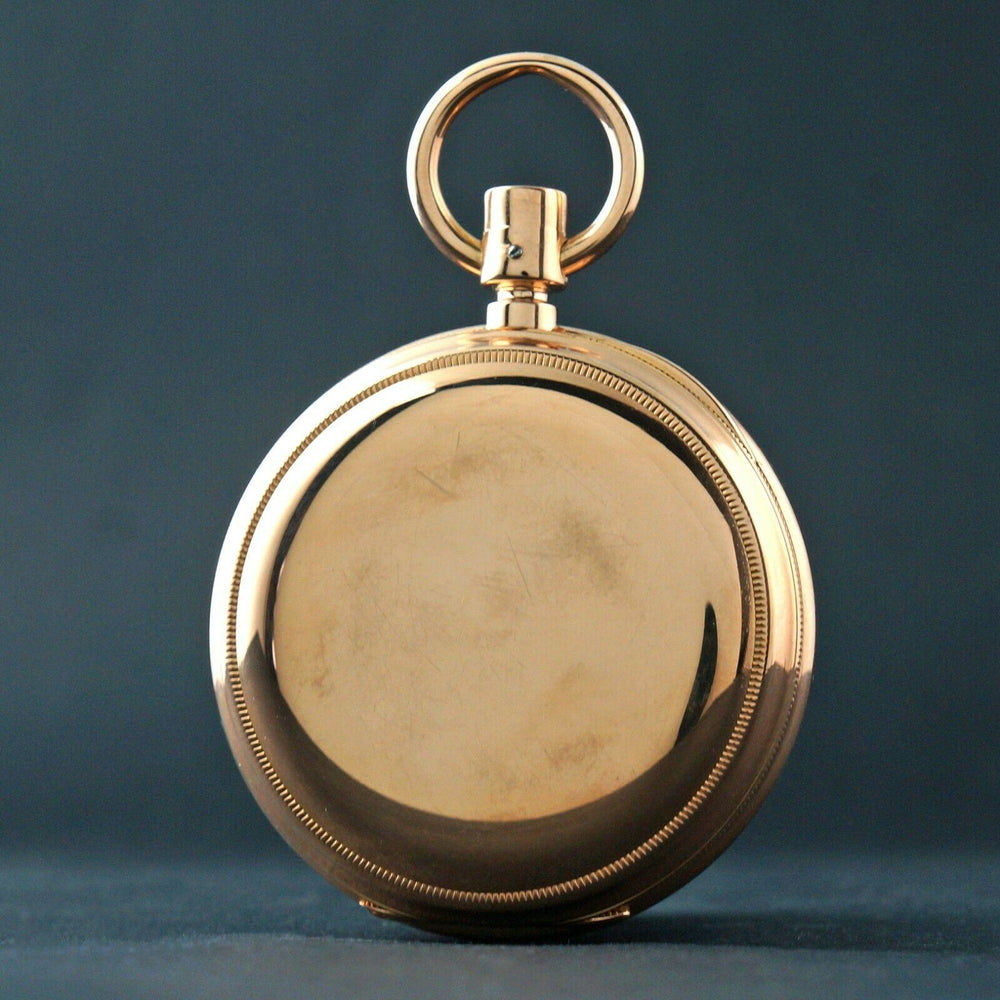 E. Bourquin & Fils Geneva Solid 18K Yellow Gold Large Pocket Watch