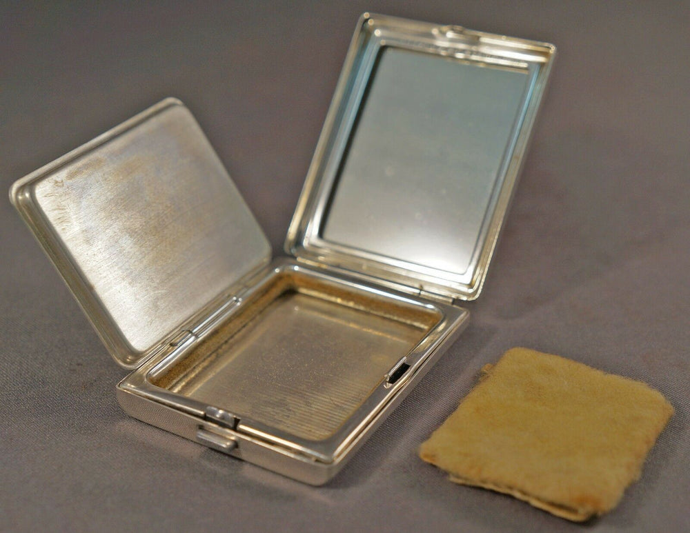Rare Gorgeous Vintage Tiffany & Co. Sterling Silver Powder Compact, Mirror
