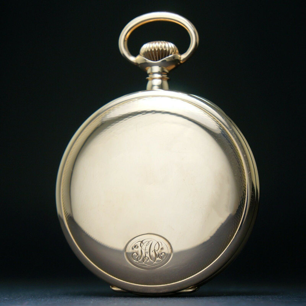 1911 Ball Waltham Solid 14K Rose Gold 16S 21J Railroad Pocket Watch Signed Case
