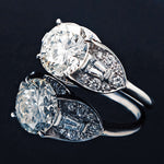 Custom Platinum, 2.92 Ct. Center & 3.30 Cttw. Diamond Engagement Ring