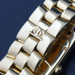 Baume & Mercier Hampton Mid Size 18K Yellow Gold MOP & Diamond Bracelet Watch Heavy