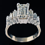 Solid Platinum & 14K White Gold, 2.70 Ct. Center & 3.84 Cttw. Emerald Cut Diamond Engagement Ring