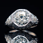 Edwardian Solid Platinum Engagement Ring Santa Rosa