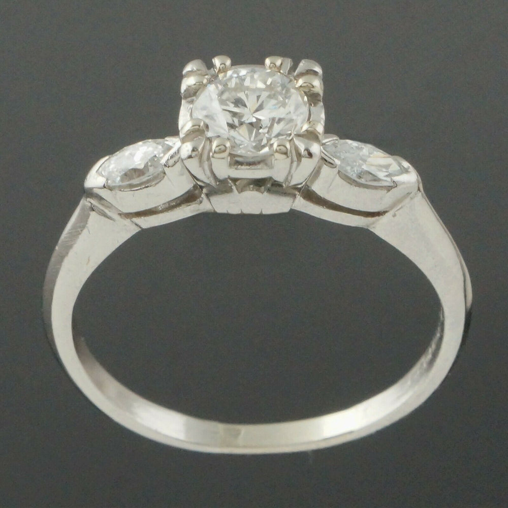 Elegant Platinum & .95 CTTW OEC Diamond Estate Engagement, Wedding Ring Santa Rosa CA Olde Towne Jewelers