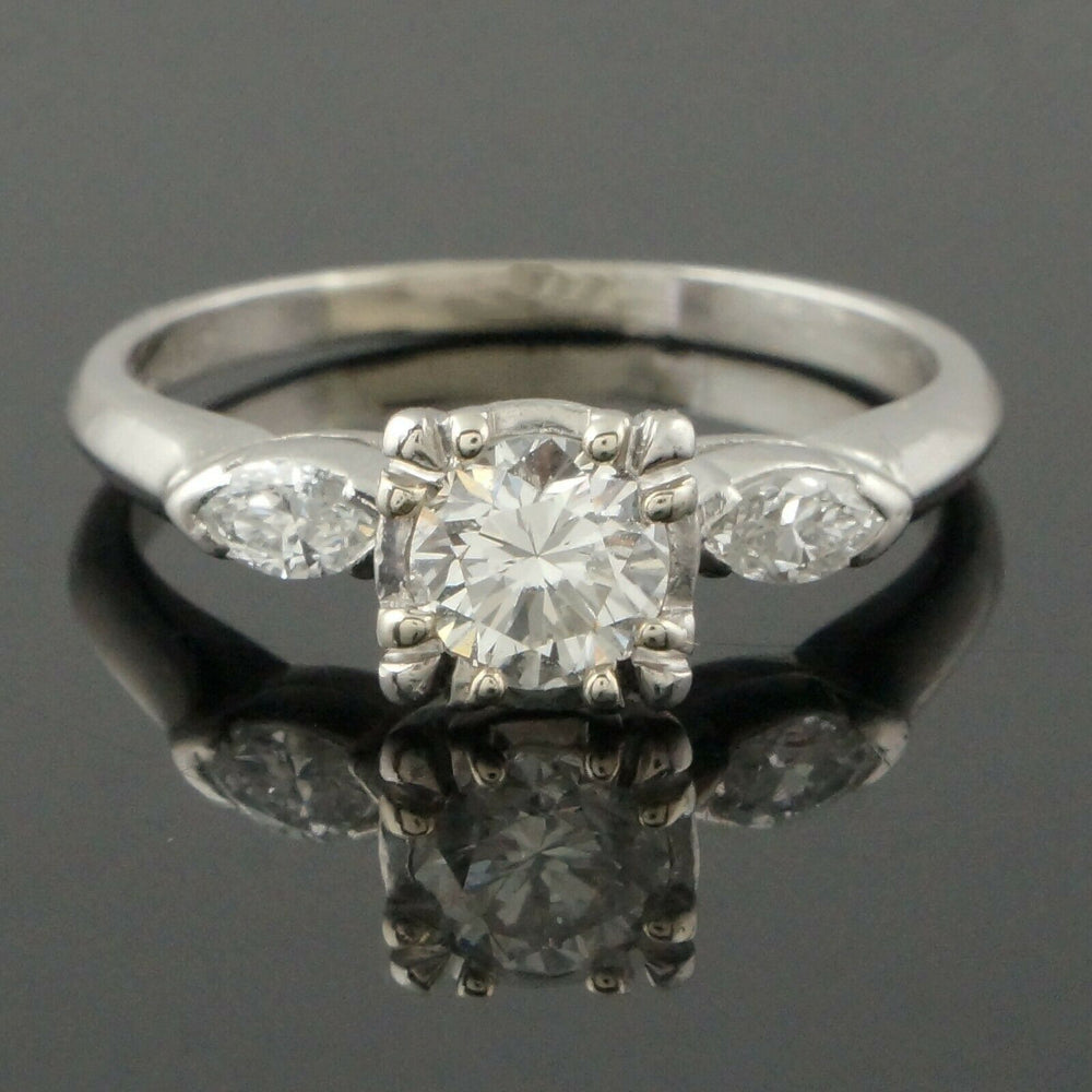 Elegant Platinum & .95 CTTW OEC Diamond Estate Engagement, Wedding Ring Santa Rosa CA