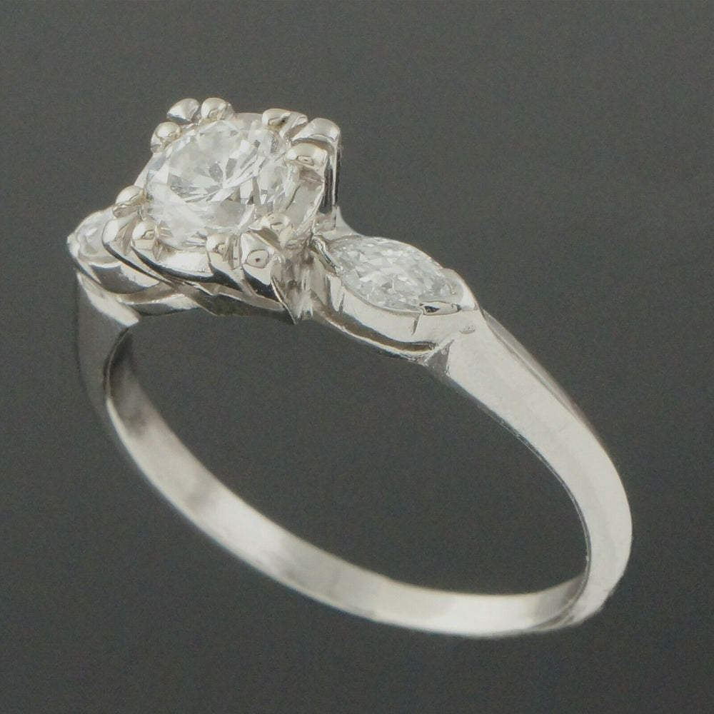 Elegant Platinum & .95 CTTW OEC Diamond Estate Engagement, Wedding Ring Santa Rosa Olde Towne Jewelers