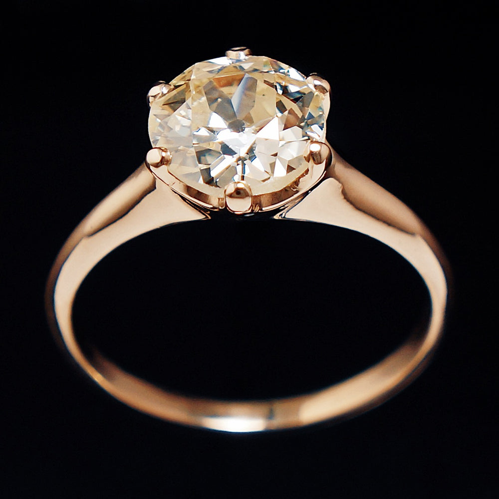 Yellow Diamond Solitaire Engagement Ring Santa Rosa