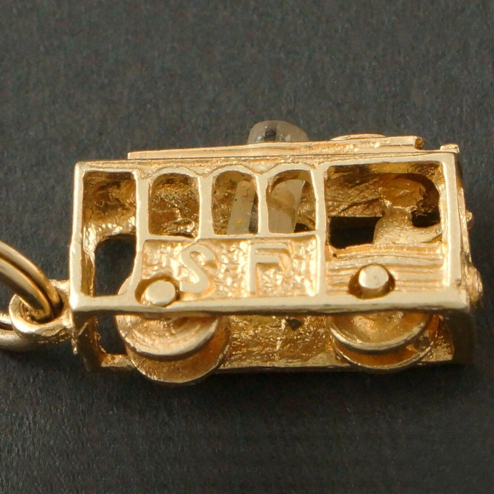 Stanhope Charm Pendant - Solid 14K Gold San Francisco, GG Bridge, Cable Car