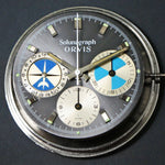 Rare Heuer Solunagraph Orvis Stainless Steel All Original Chronograph Men's Wristwatch