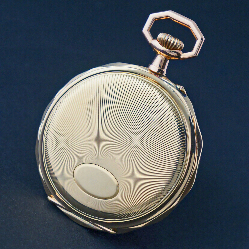 Stunning Large Schild Freres & Co 14K Yellow & Rose Gold Pocket Watch, MINT!