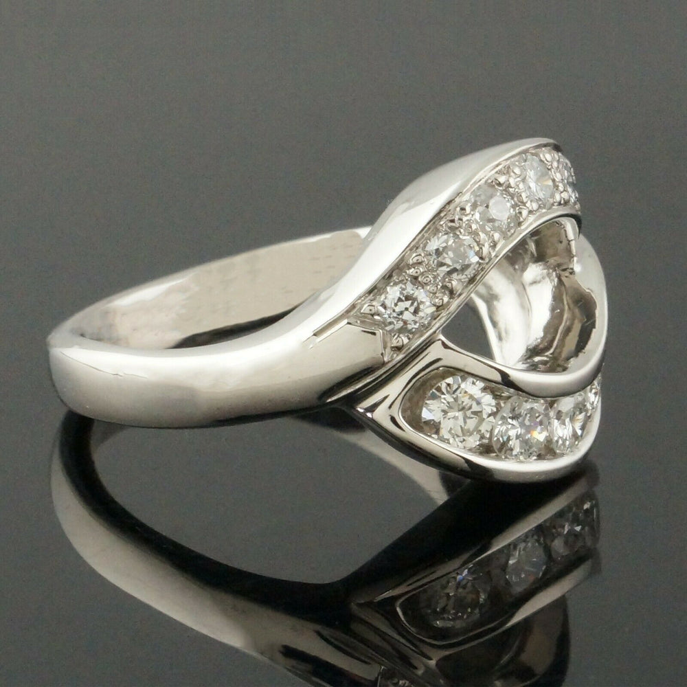 M. Devlin Platinum & .74 CTTW Diamond, Bypass Estate Ring
