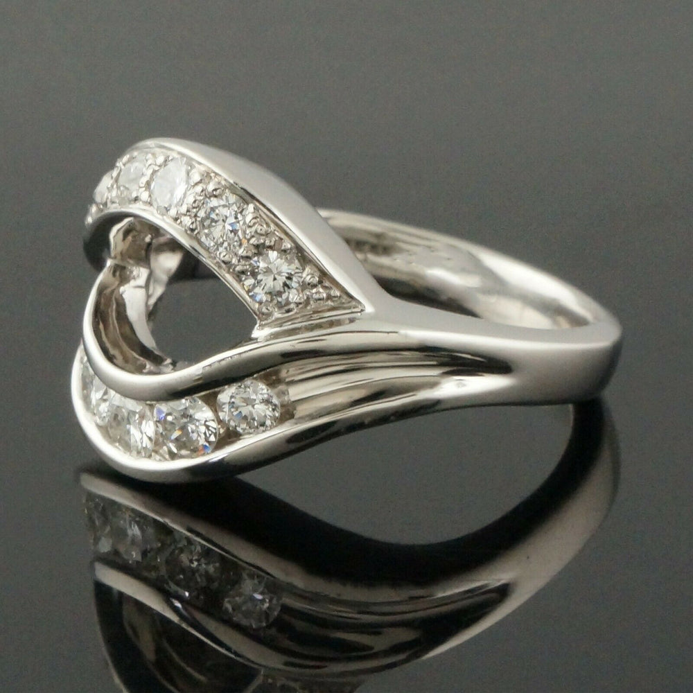 M. Devlin Platinum & .74 CTW Diamond, Modernist Bypass Estate Ring
