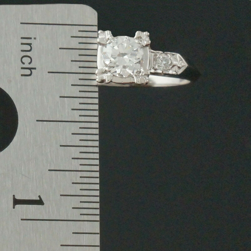 Solid Platinum & .54 CTW 3 Stone Diamond Estate Wedding, Engagement Ring Olde Towne Jewelers Santa Rosa CA